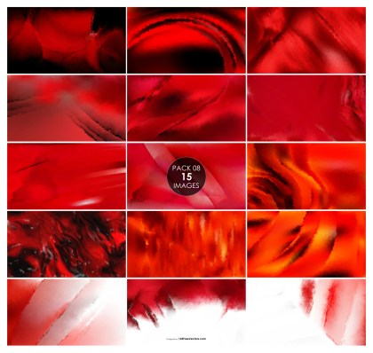15 Red Watercolor Background Pack 08