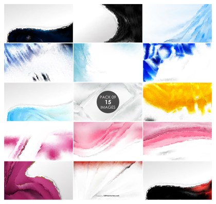 15 Watercolor Background Pack 09