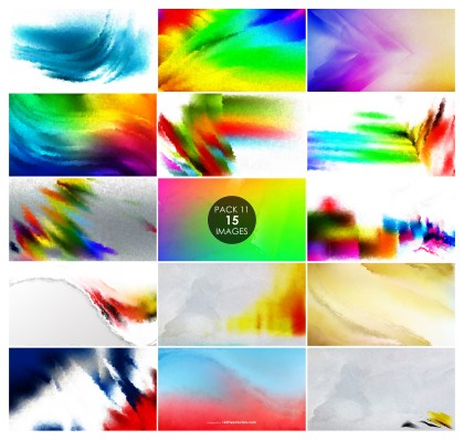 15 Colorful Pink Watercolor Background Pack 11