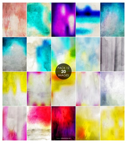 20 Watercolour Grunge Texture Background Pack 12