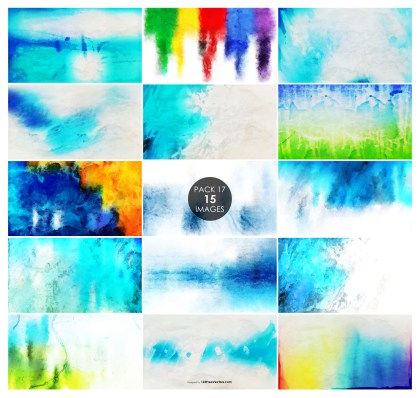 15 Grunge Watercolor Texture Pack 17