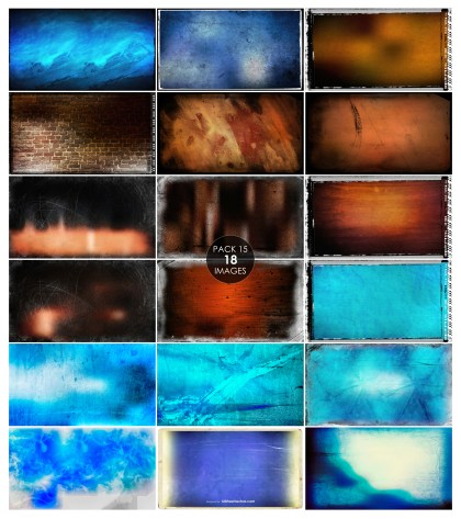 18 Blue and Brown Grunge Background Pack 15