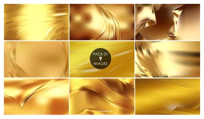 9 Gold Metal Background Pack 01