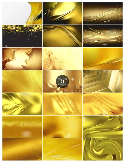 21 Gold Metal Texture Pack 03