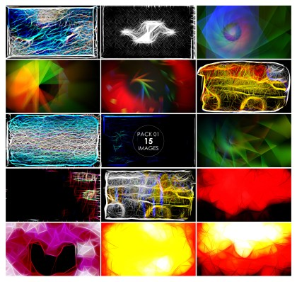 15 Fractal Background Pack 01
