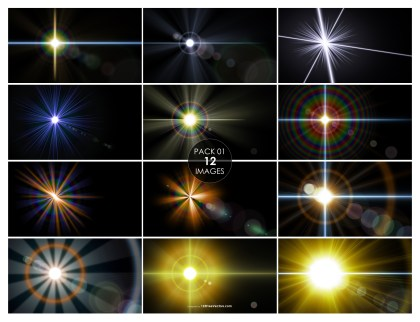 12 Flare Background Pack 01