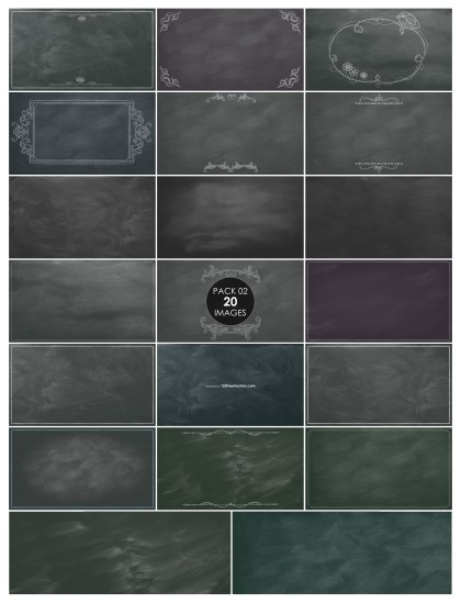 20 Chalkboard Background Pack 02