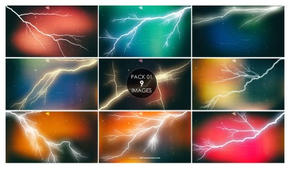 9 Lightning Background Pack 01