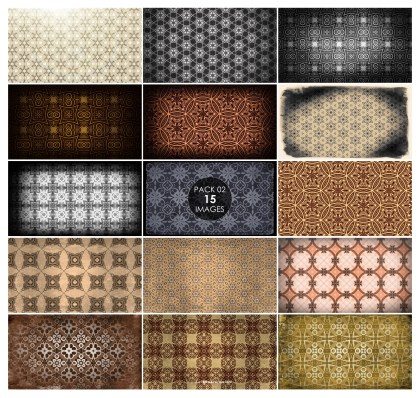 15 Vintage Background Pattern Pack 02