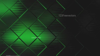 Abstract Green and Black Geometric Square Background Design