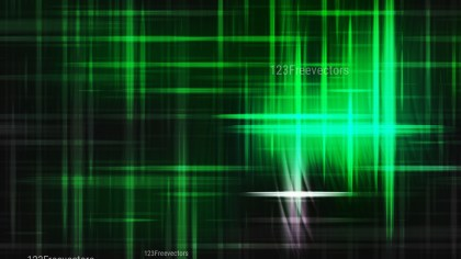 Green and Black Futuristic Glowing Light Stripes Background