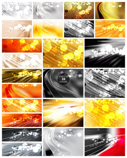24 Blurred Bokeh Background Vector Pack 02
