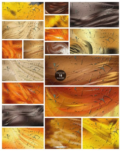 18 Orange and Brown Crack Background Texture Pack 02