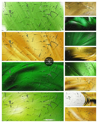12 Green and Gold Cracked Background Pack 06
