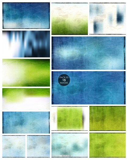 15 Blue and Green Vintage Paper Texture Pack 03