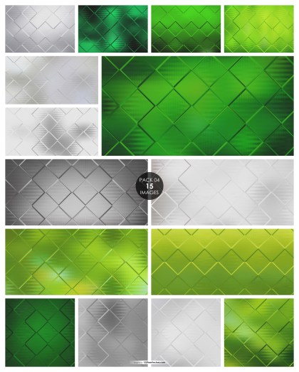 15 Green and Grey Square Background Pack 04