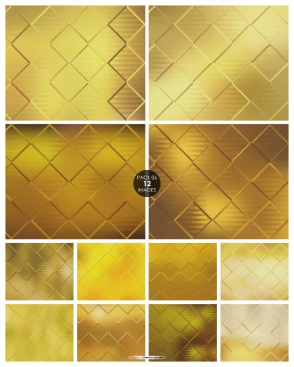 12 Gold Square Background Pack 06