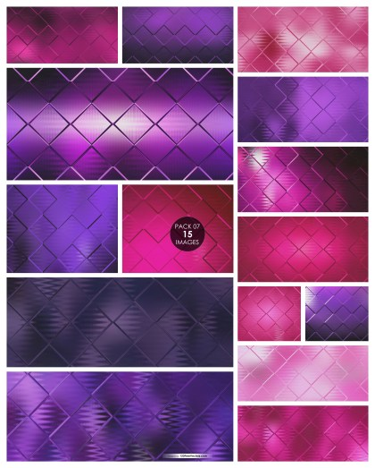 15 Pink and Purple Square Background Pack 07