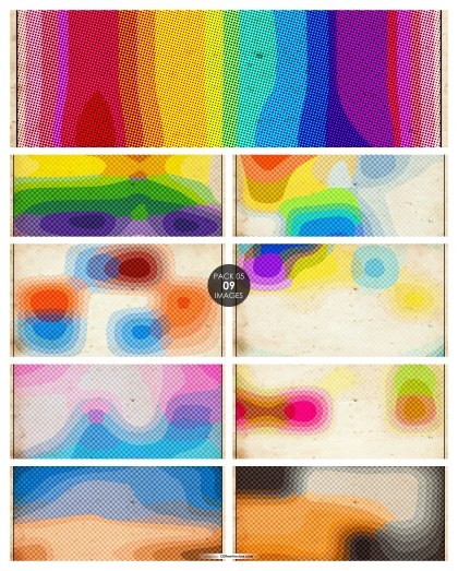 9 Colorful Halftone Dots Texture Background Pack 05