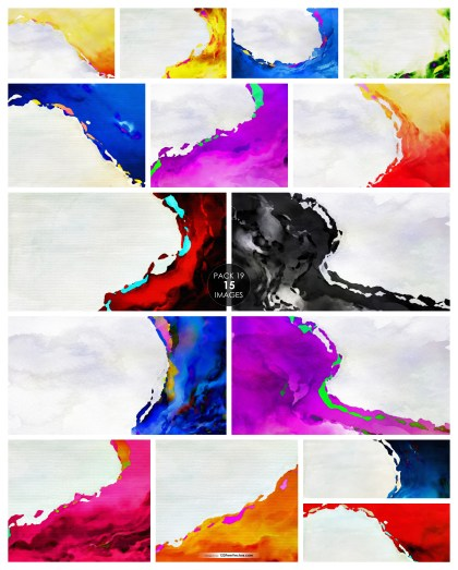 15 Watercolor Background Pack 19