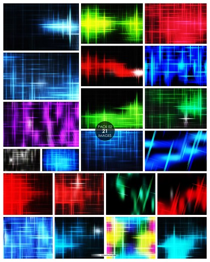 21 Futuristic Glowing Light Lines Stripes Background Pack 02