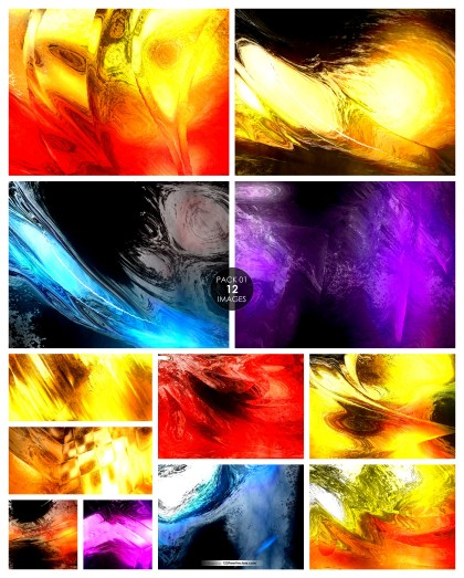 12 Painting Texture Background Pack 01
