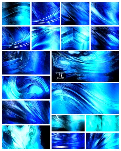 18 Blue Painting Texture Background Pack 02