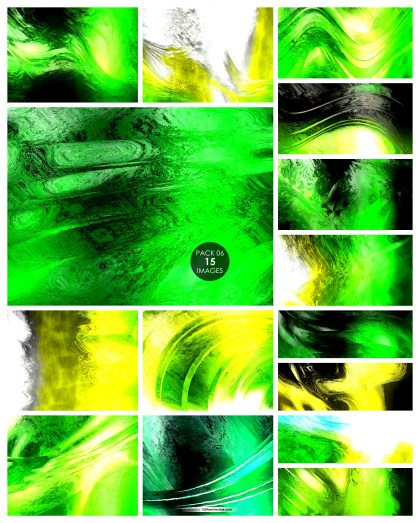 15 Green and Yellow Paint Texture Background Pack 06