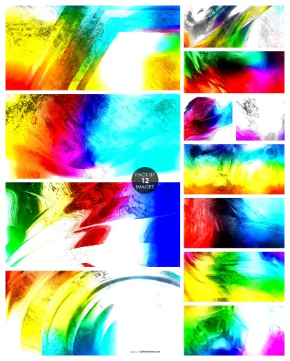 12 Colorful Painting Texture Background Pack 07