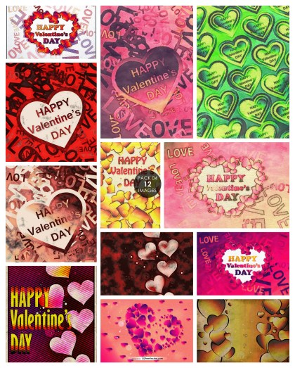 12 Heart Texture Background Pack 04