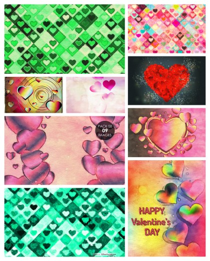 9 Valentine Background Texture Pack 08