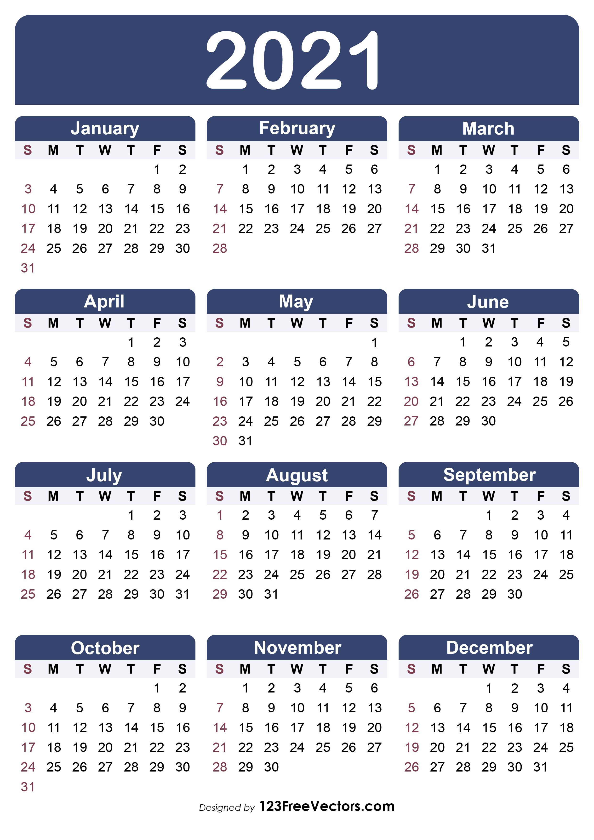 Christmas 2021 Editable Calendar 210 2021 Calendar Vectors Download Free Vector Art Graphics 123freevectors