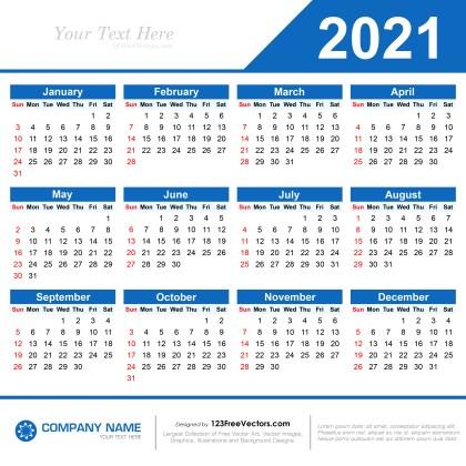 210 2021 Calendar Vectors Download Free Vector Art Graphics 123freevectors