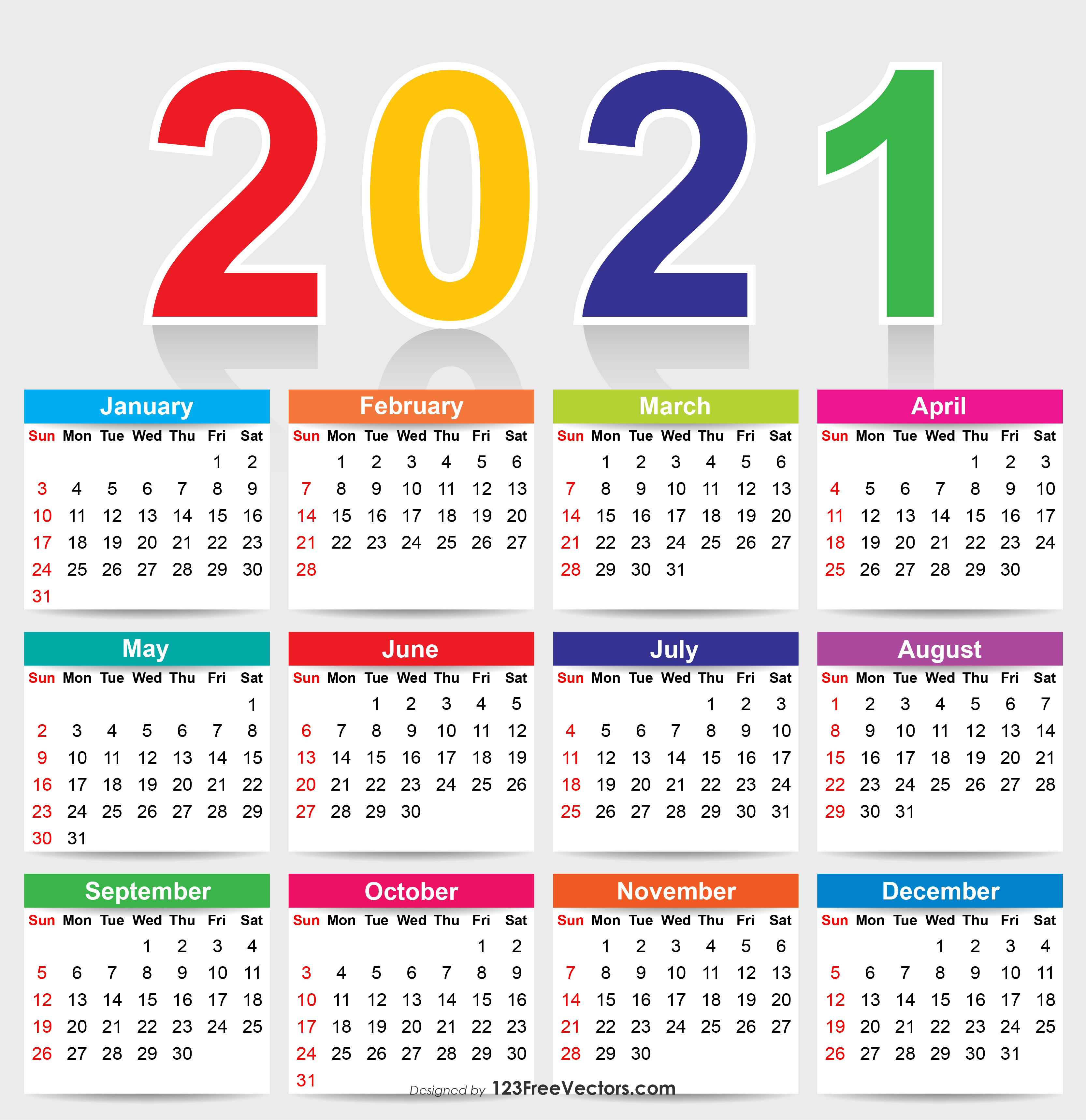 2021 Vector Calendar 210+ 2021 Calendar Vectors | Download Free Vector Art & Graphics