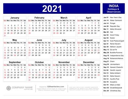 Indian Calendar 2022.210 2021 Calendar Vectors Download Free Vector Art Graphics 123freevectors