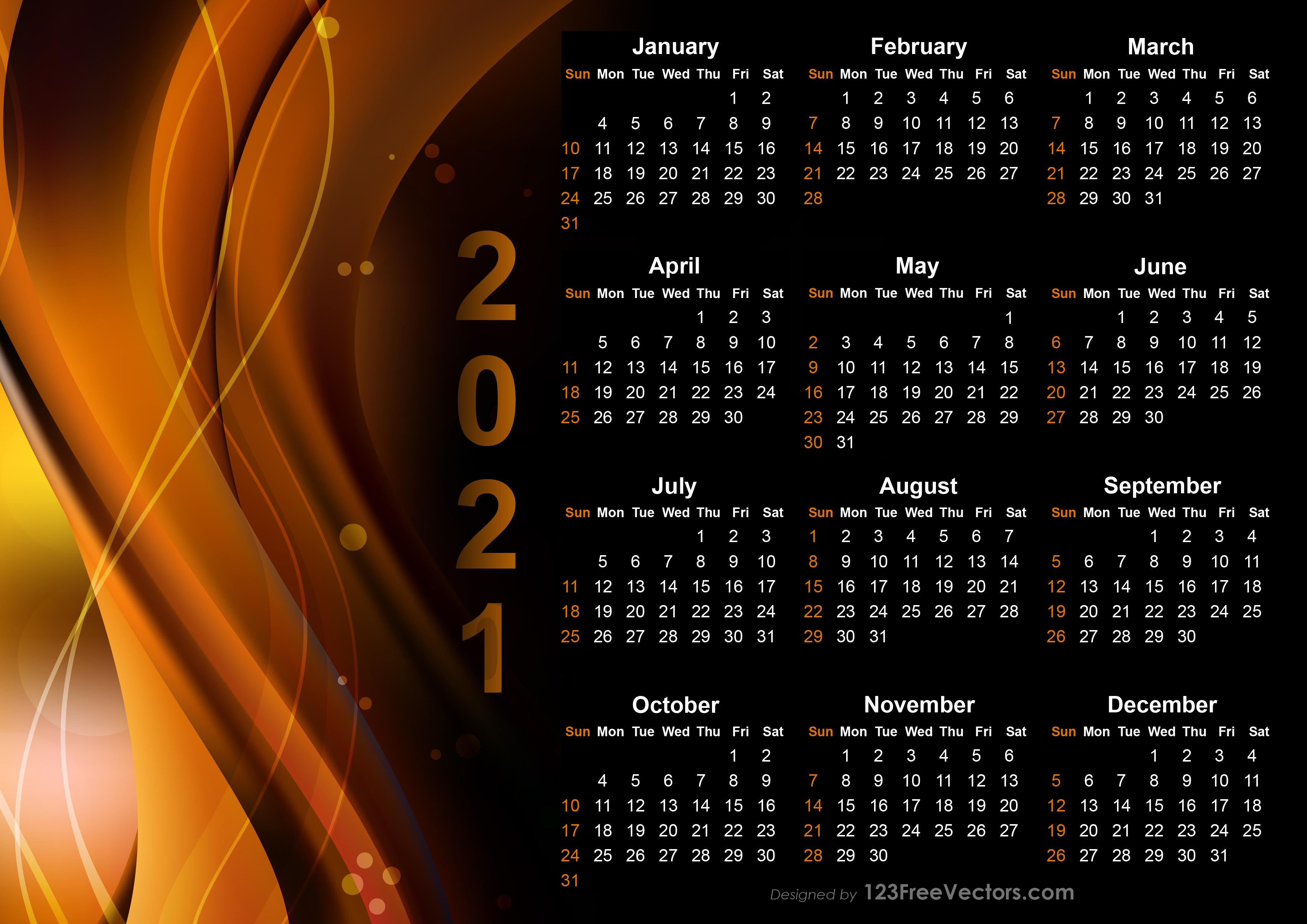 210+ 2021 Calendar Vectors | Download Free Vector Art ...