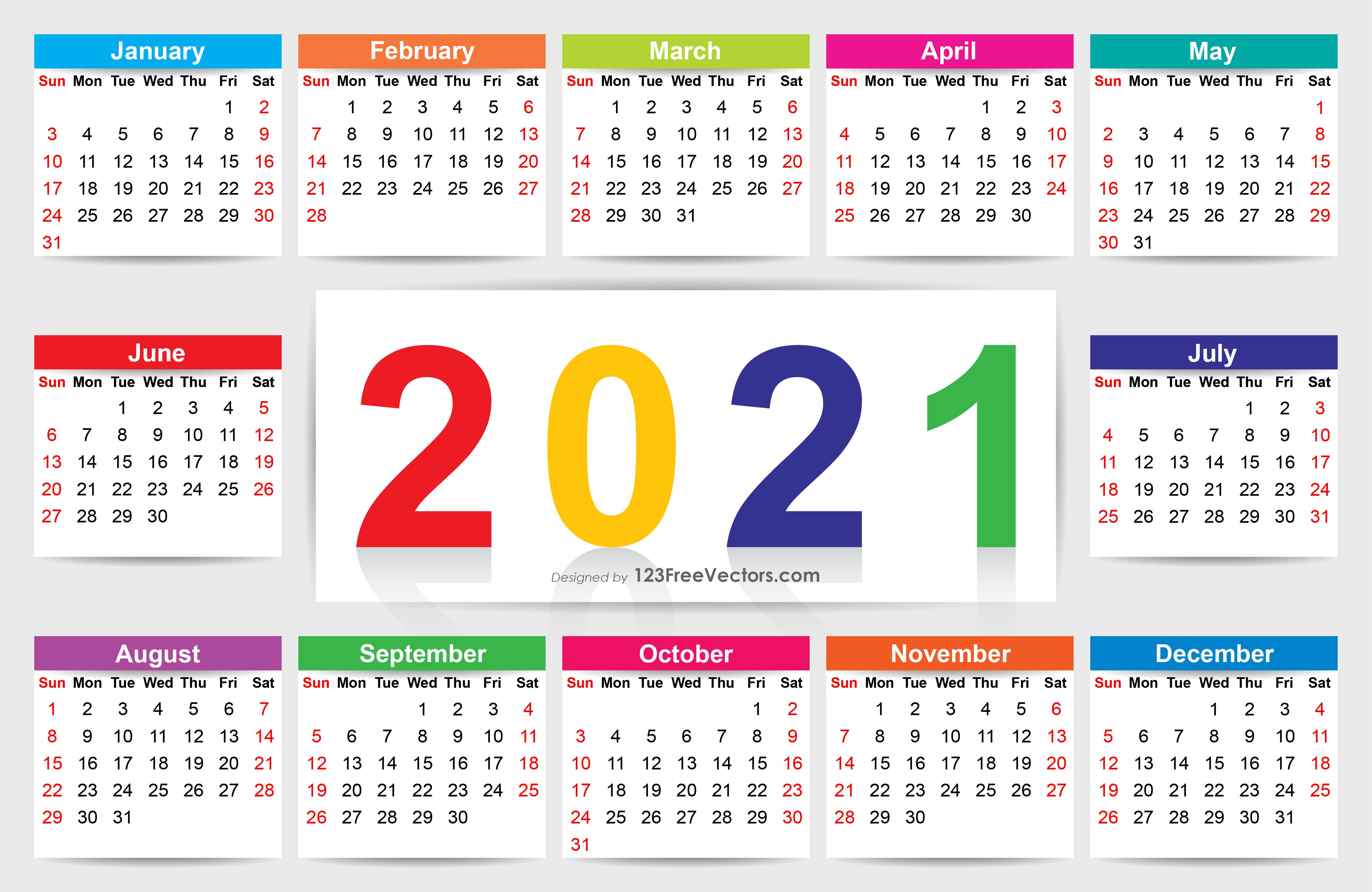 210+ 2021 Calendar Vectors   Download Free Vector Art ...