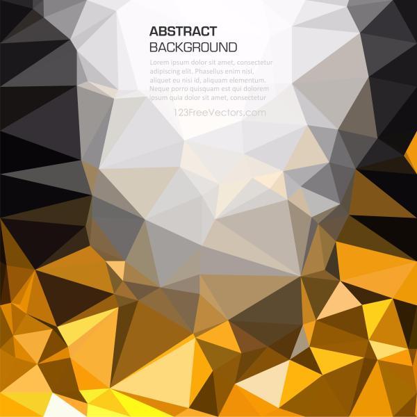 1946 gold and black geometric polygon wallpaper
