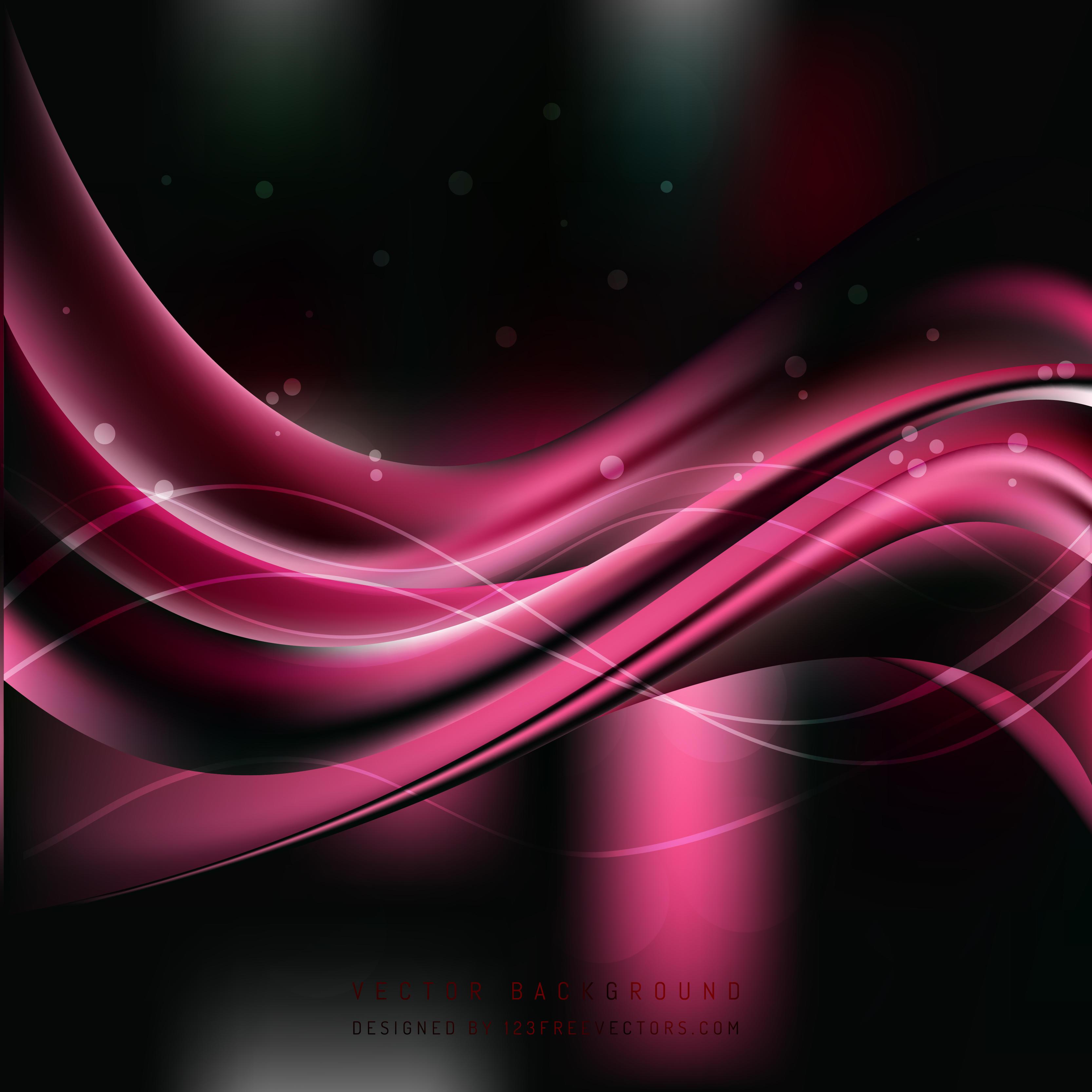 Black Pink Wave Background Design