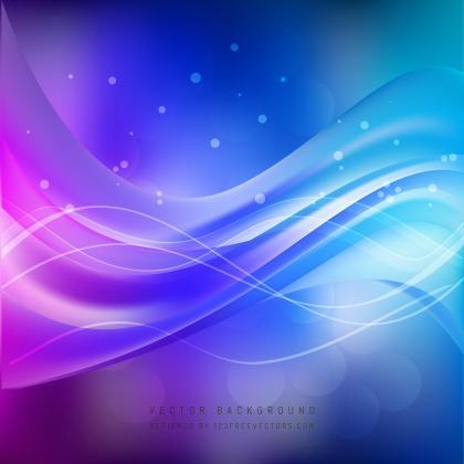 Cobalt Blue Purple Wave Background Design