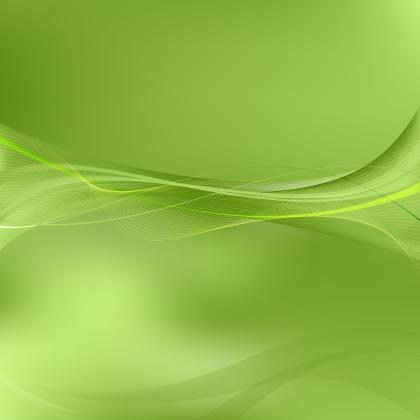 Green Flowing Lines Background Template