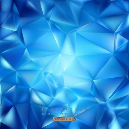 Free Blue Polygon Background Template Graphic