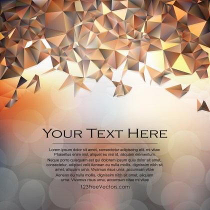 Free Brown Polygonal Triangle Background Illustrator