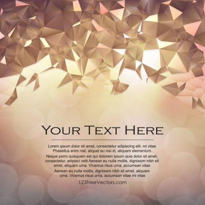 Free Abstract Brown Polygon Background Vector Art