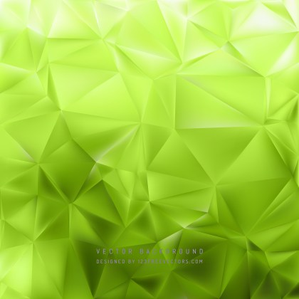Free Abstract Green Polygon Background Template Illustration