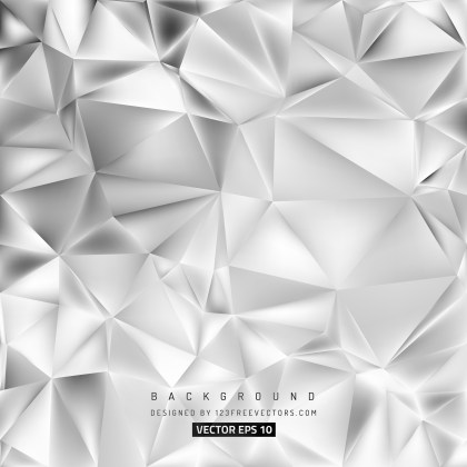 Free Abstract Bright Grey Low Poly Background Design