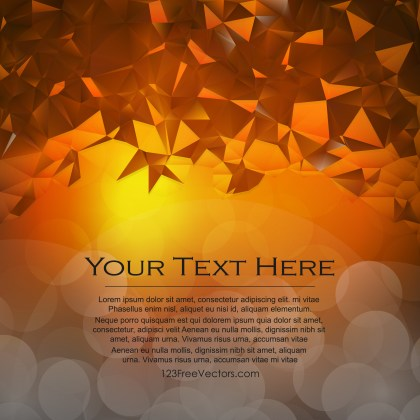 Free Abstract Dark Orange Polygonal Background Template Vector Image