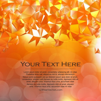 Free Abstract Orange Polygonal Triangular Background Vector