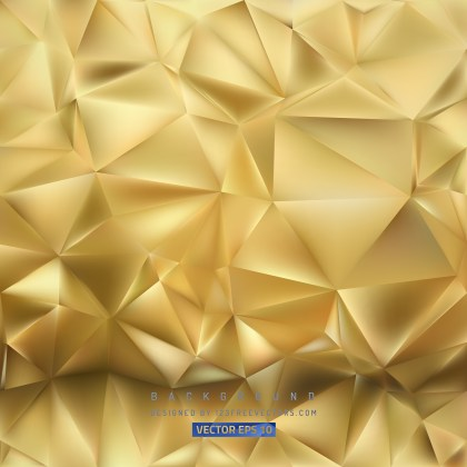 Free Abstract Gold Polygon Background Illustration