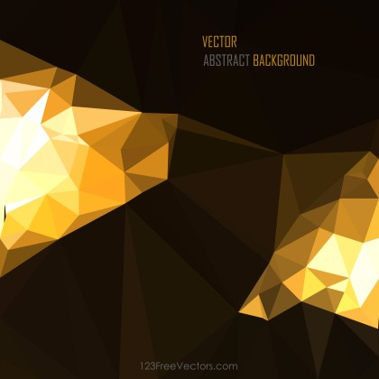 Free Cool Gold Polygon Background Vector Graphic